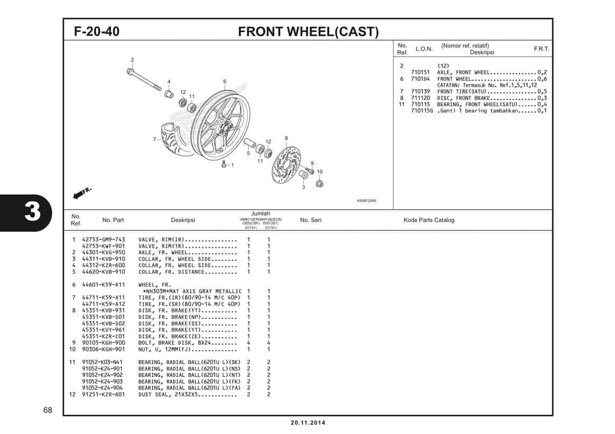 F20 40 Front Wheel