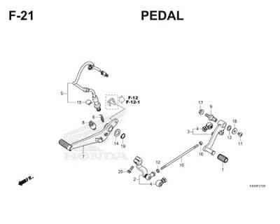 F21 Pedal Thumb