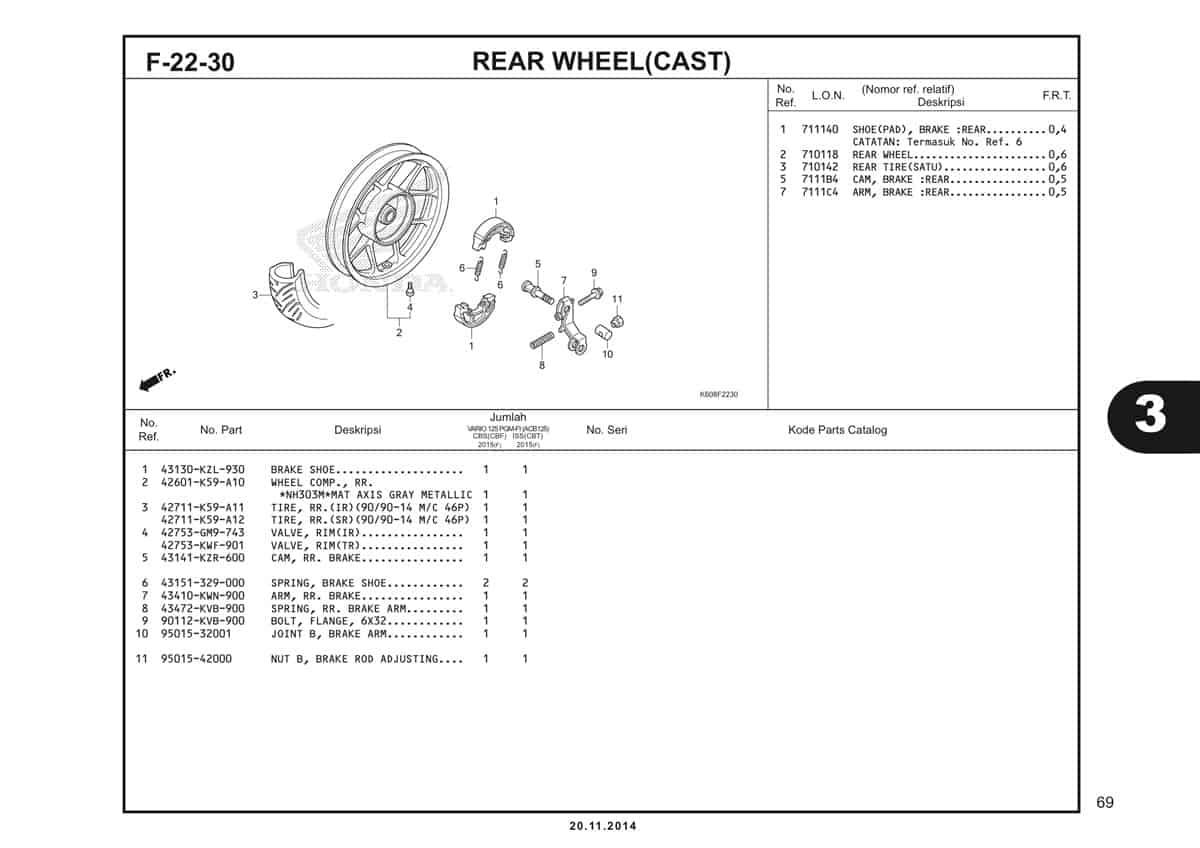 F22 30 Rear Wheel
