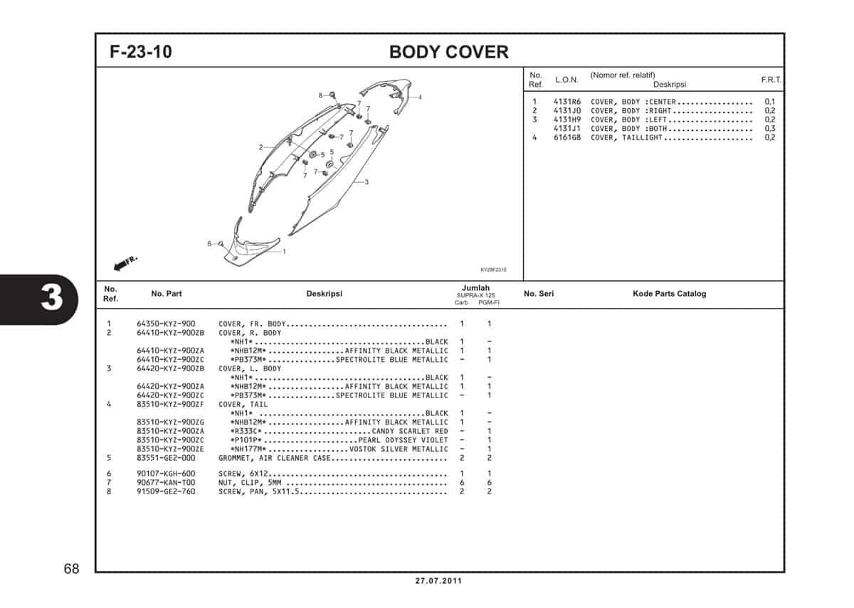 F23 10 Body Cover