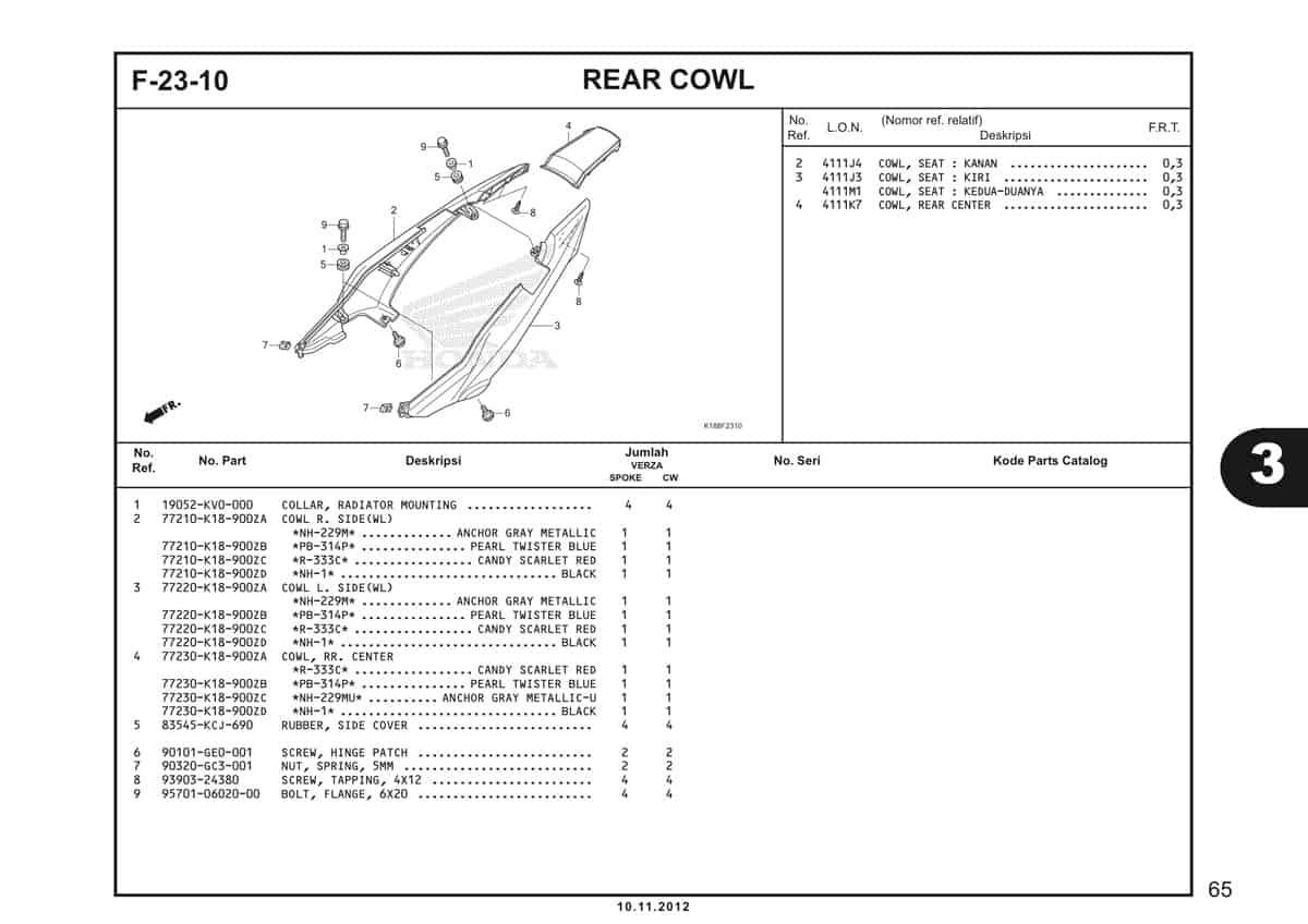 F23 10 Rear Cowl