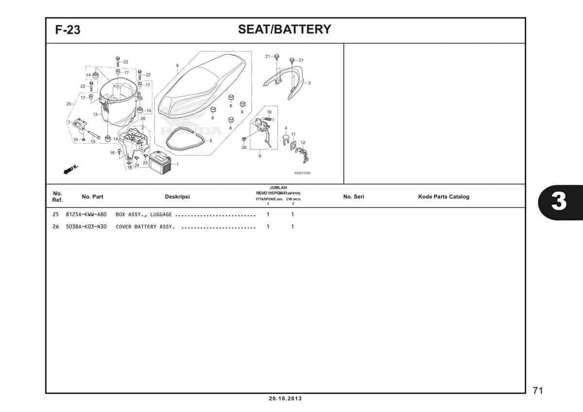 F23 Seat Battery 2
