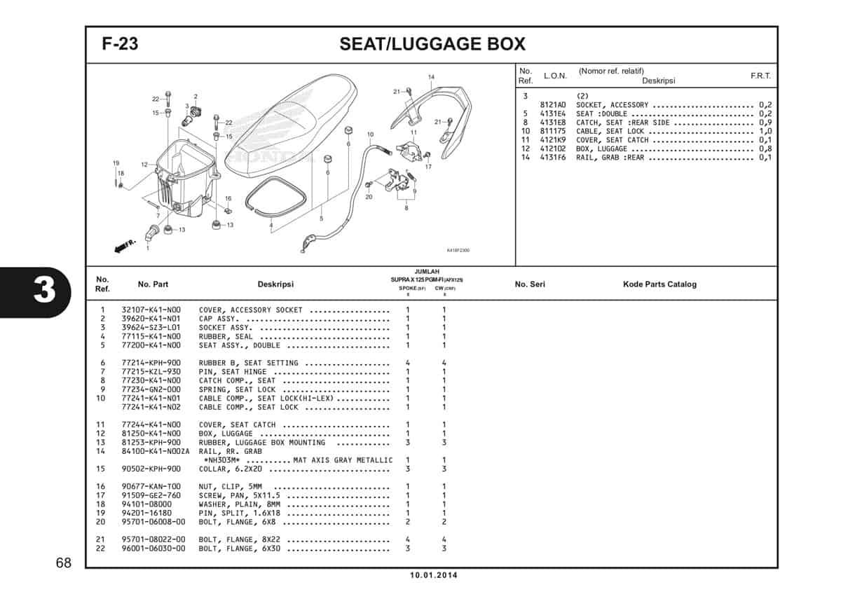 F23 Seat Luggage Box