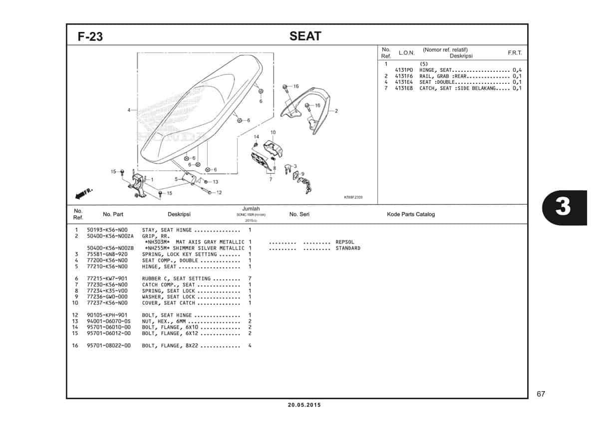 F23 Seat.