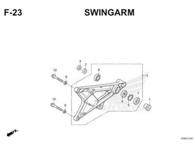 F23 Swingarm Thumb