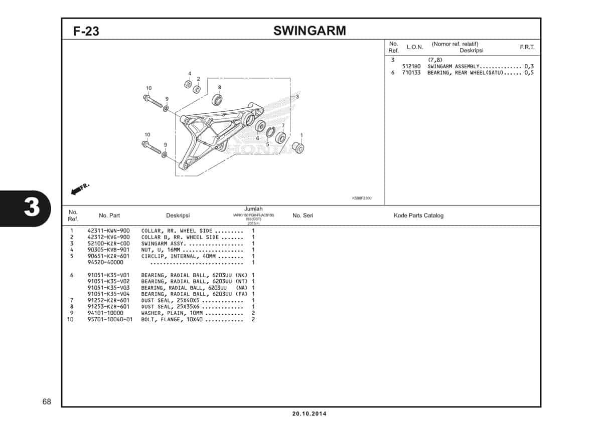 F23 Swingarm
