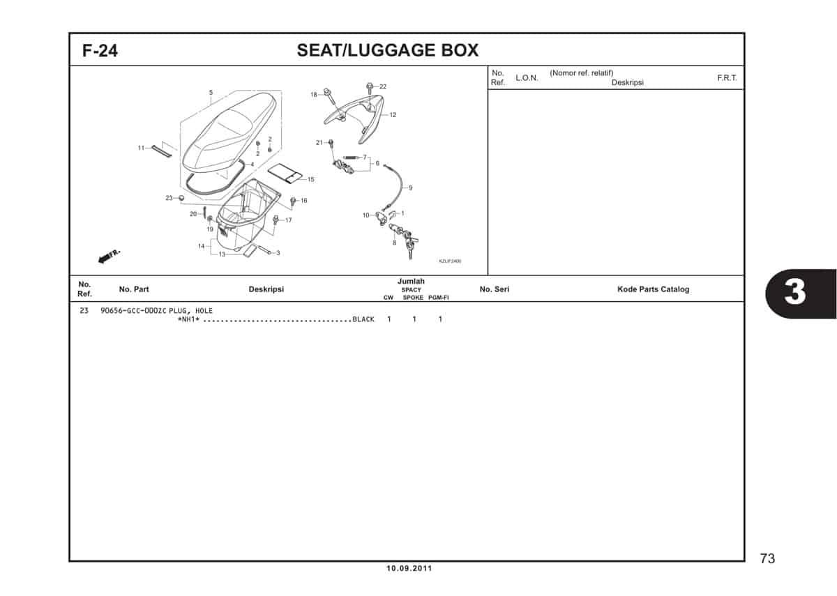 F24 Seat Luggage Box 2