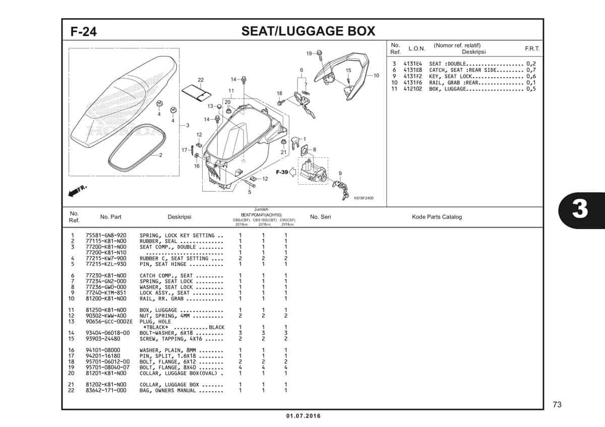 F24 Seat Luggage Box