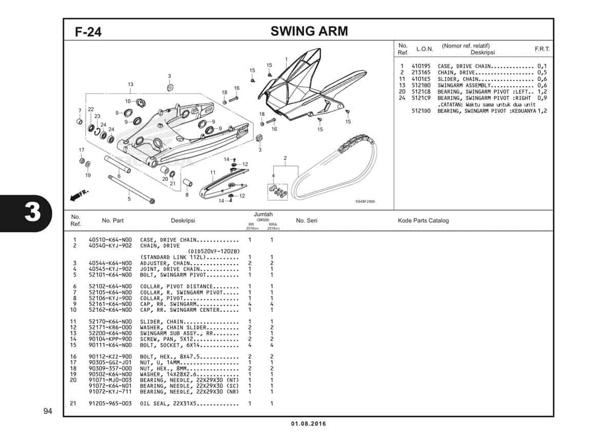 F24 Swing Arm 1