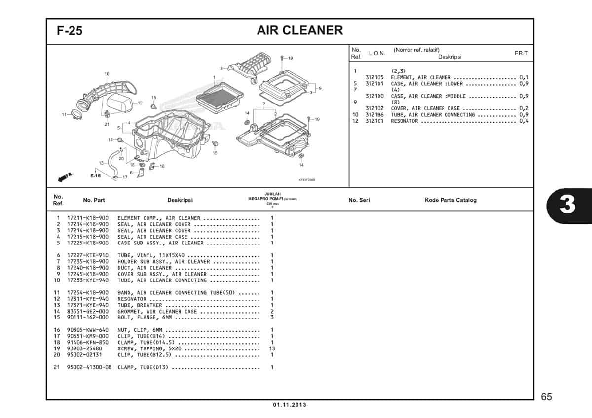 F25 Air Cleaner