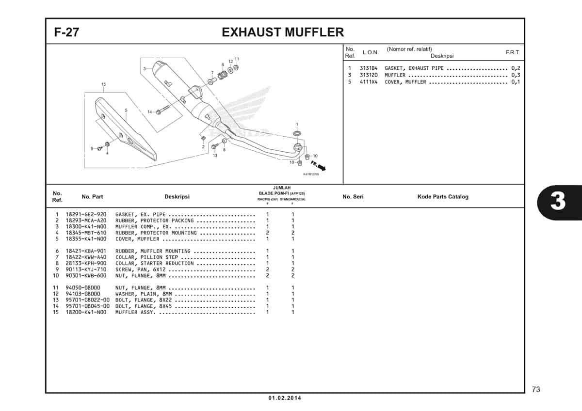 F27 Exhaust Muffler Katalog Blade K47