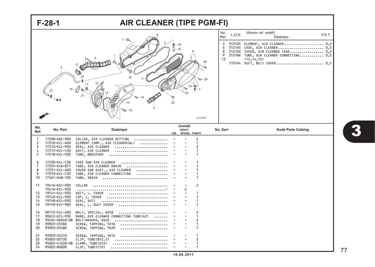 F28 1 Air Cleaner