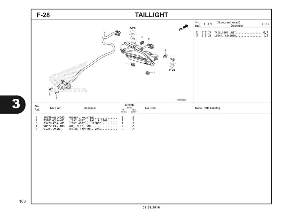 F28 Taillight