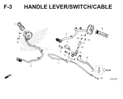 F3 Handle Lever Switch Cable Thumb