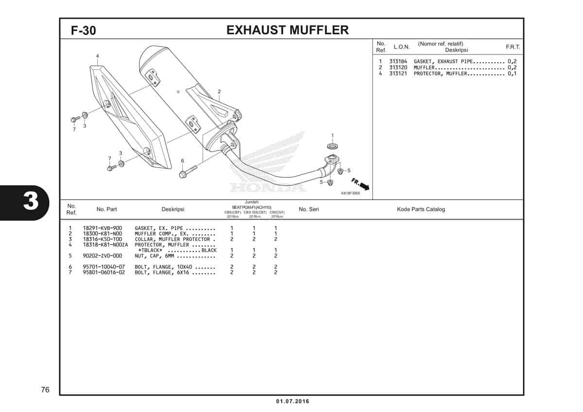 F30 Exhaust Muffler