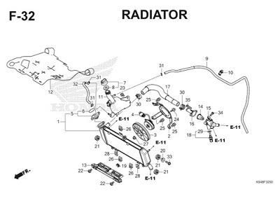 F32 Radiator Thumb