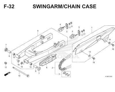 F32 Swingarm Chain Case Thumb