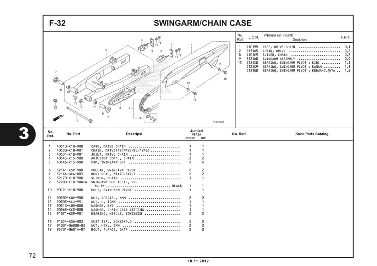 F32 Swingarm Chain Case
