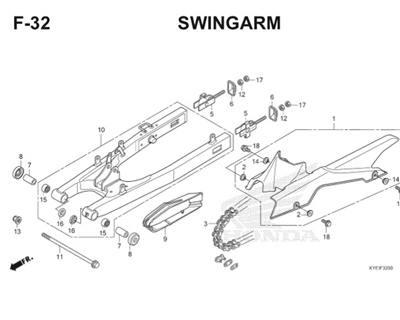 F32 Swingarm Thumb