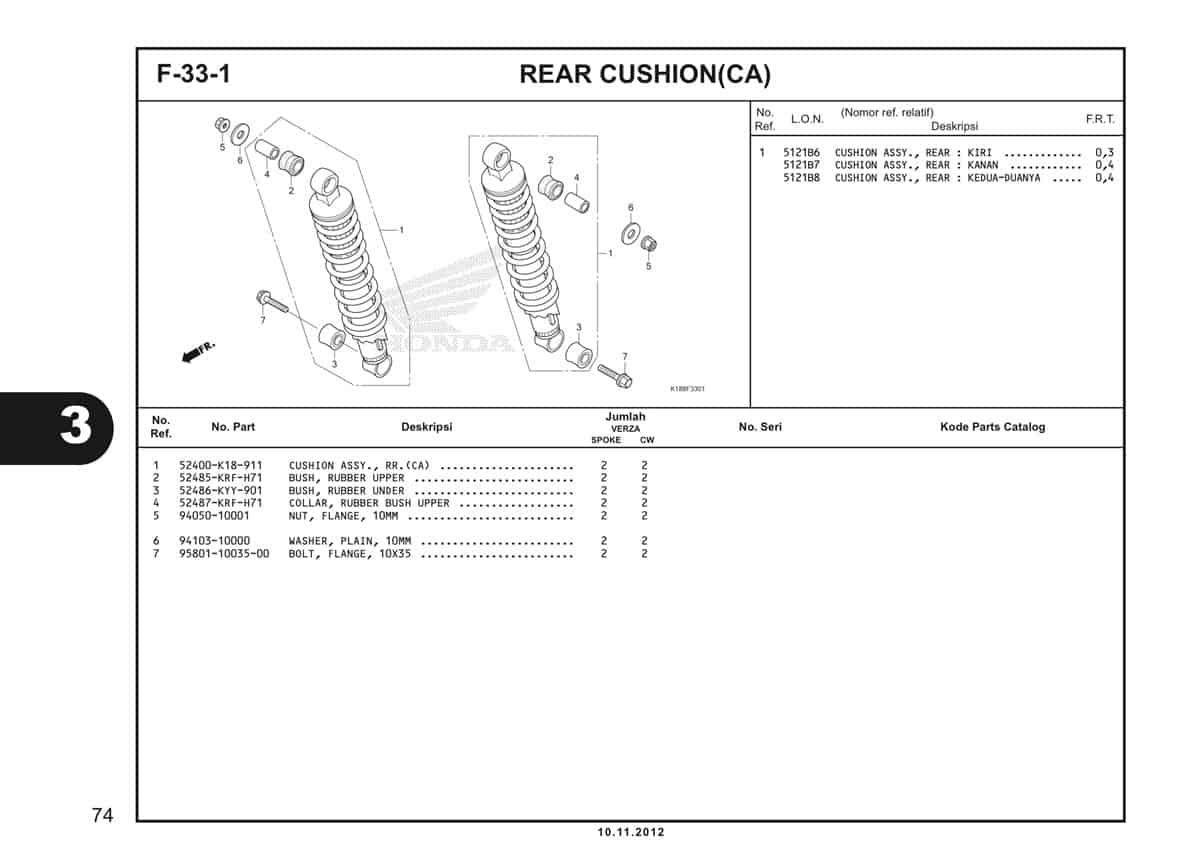F33 1 Rear Cushion