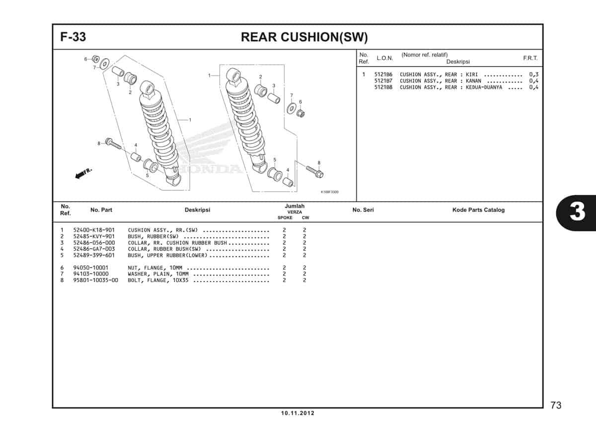F33 Rear Cushion