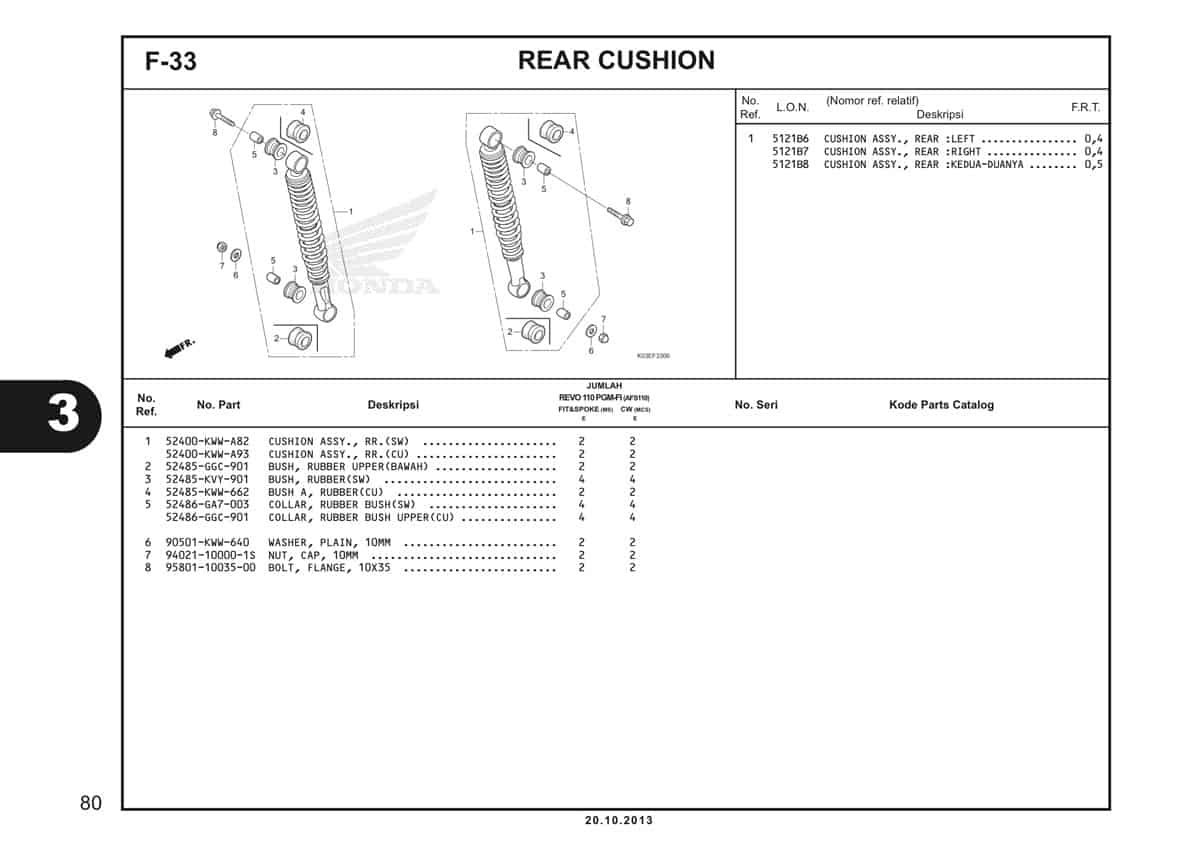 F33 Rear Cushion