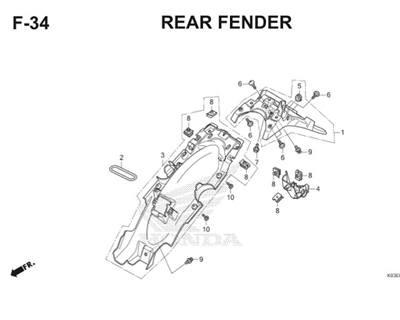 F34 Rear Fender Thumb
