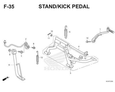 F35 Stand Kick Pedal Thumb