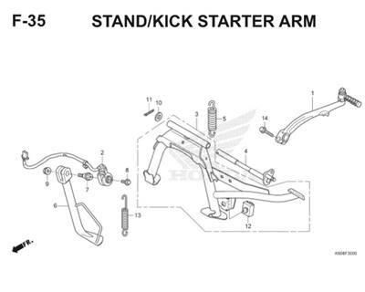 F35 Stand Kick Starter Arm Thumb