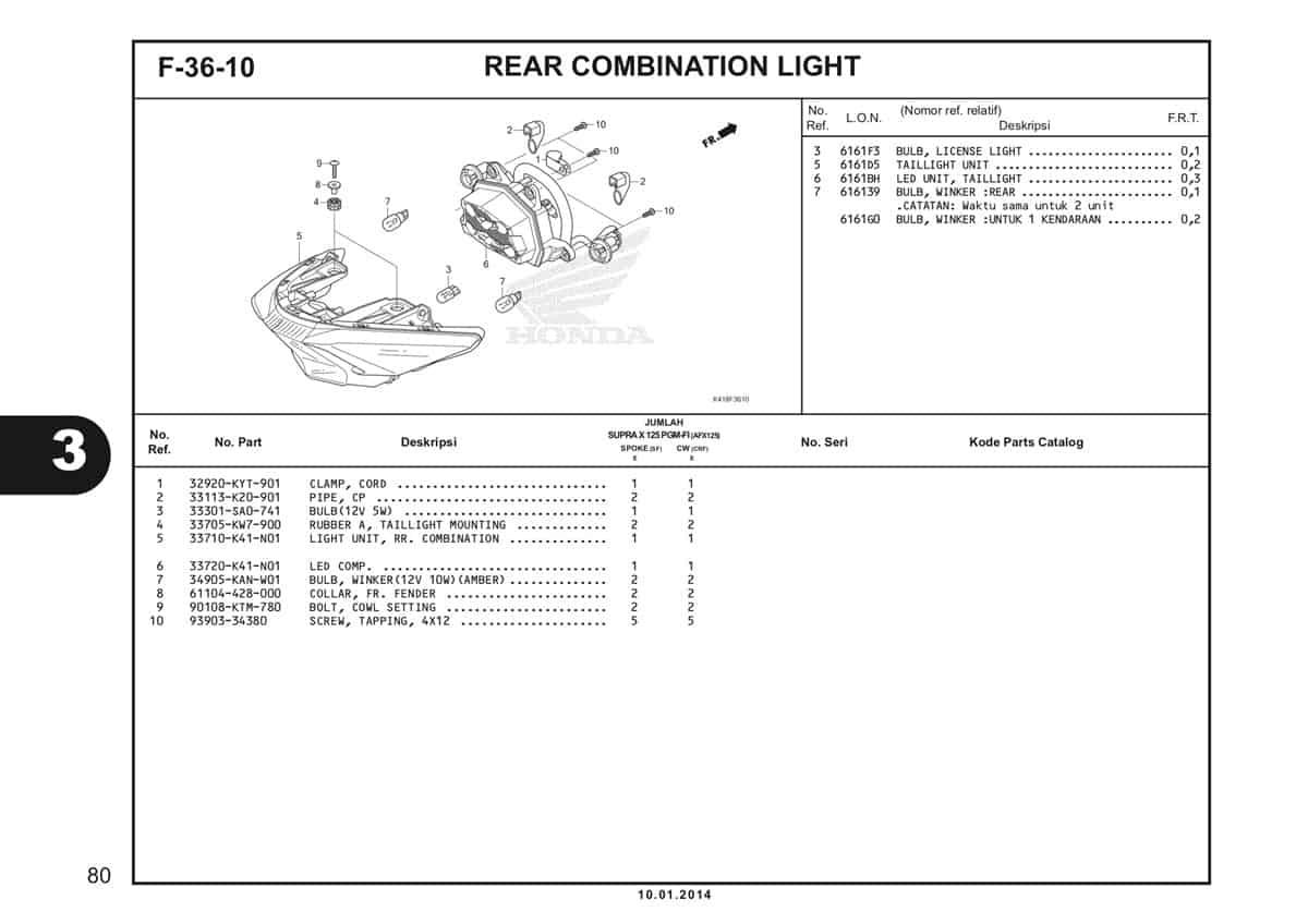 F36 10 Rear Combination Light