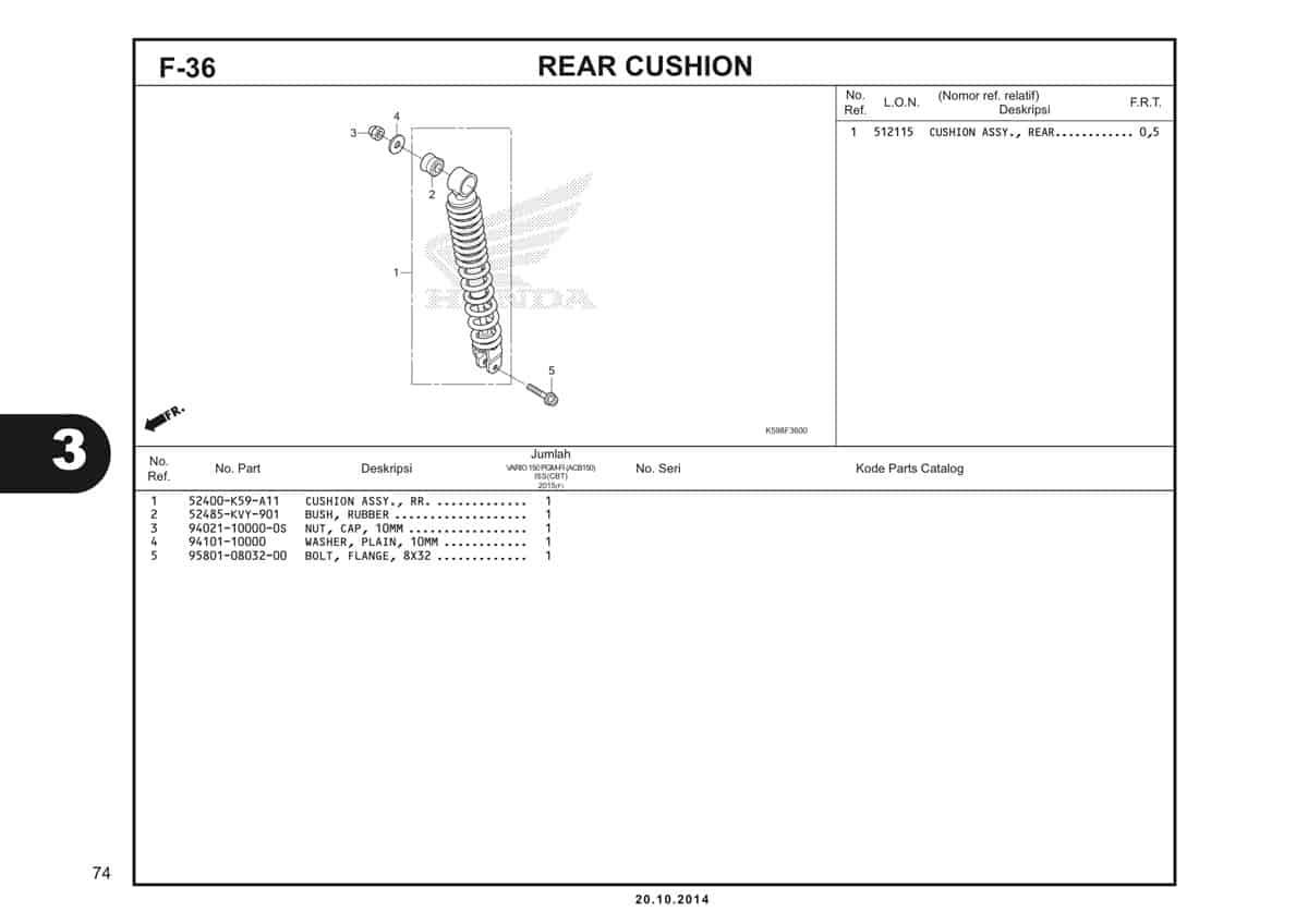 F36 Rear Cushion