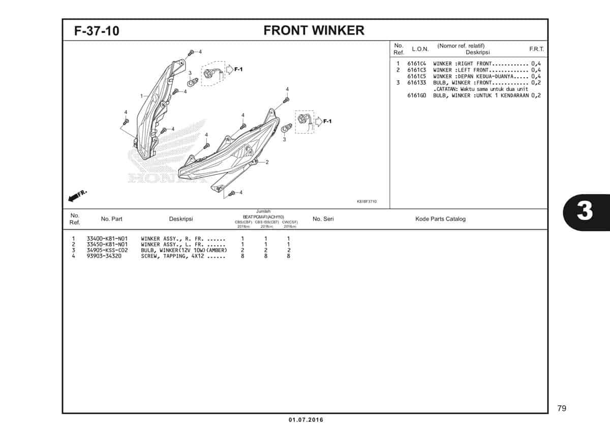 F37 10 Front Winker
