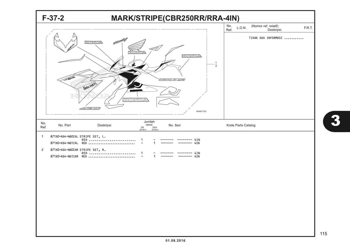 F37 2 Mark Stripe