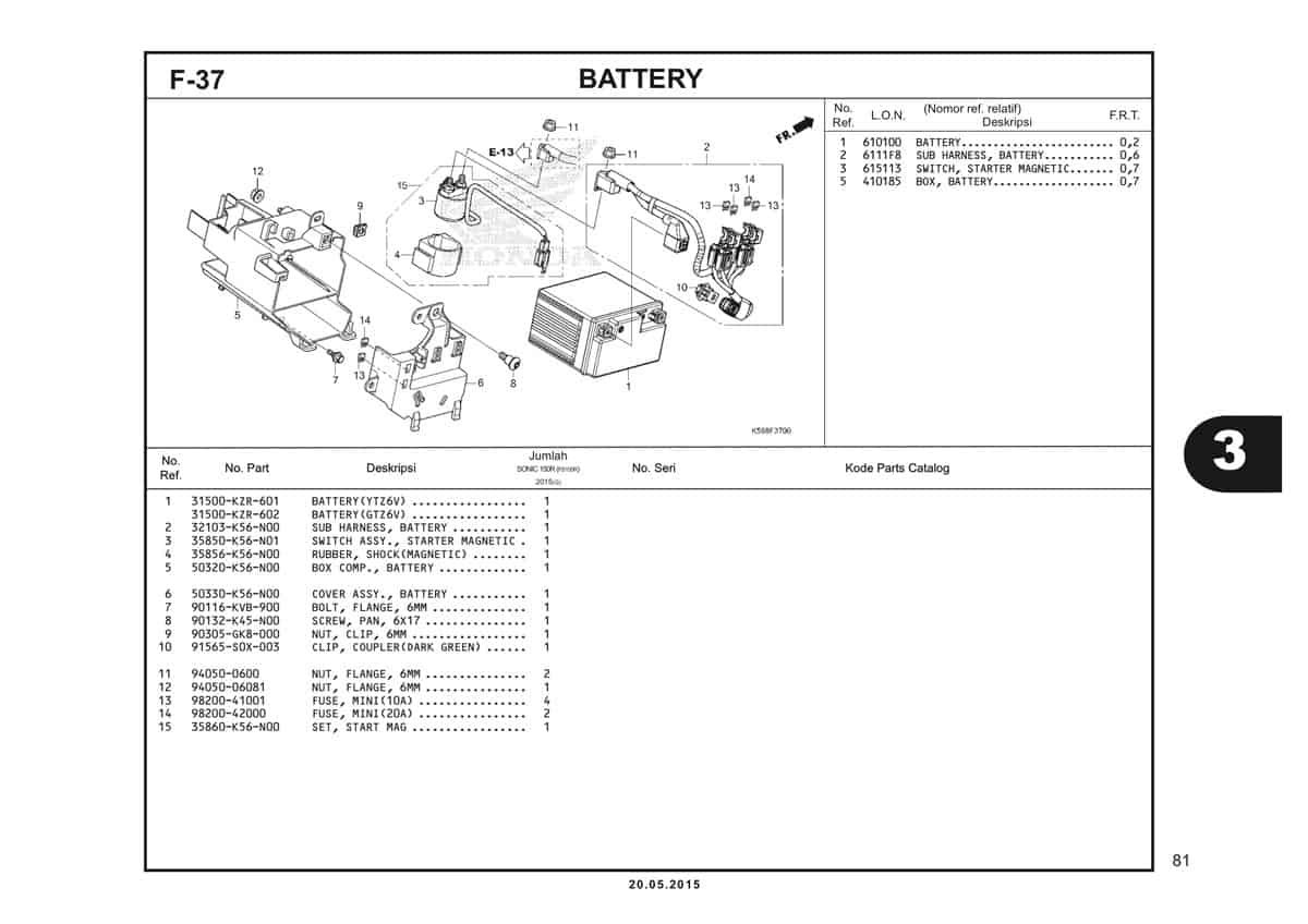 F37 Battery