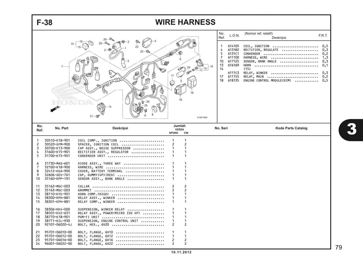 F38 Wire Harness 1