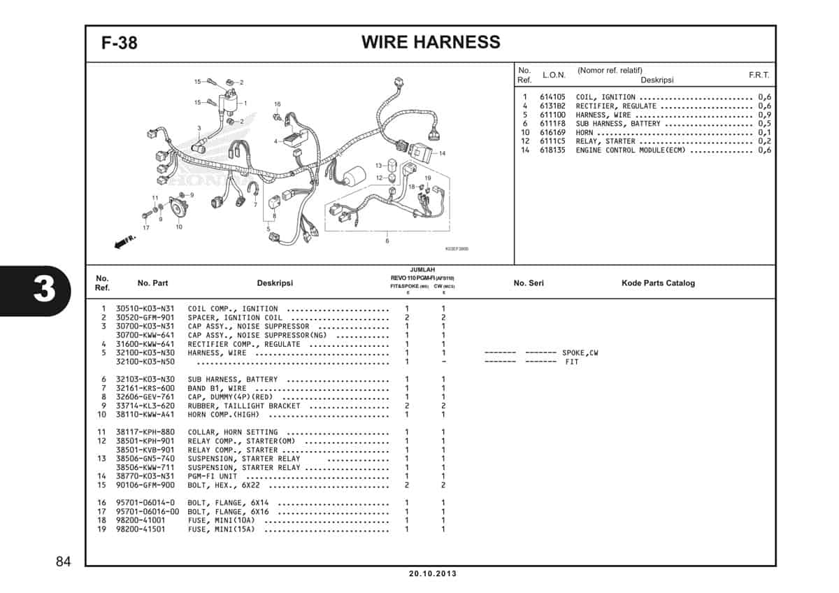 F38 Wire Harness