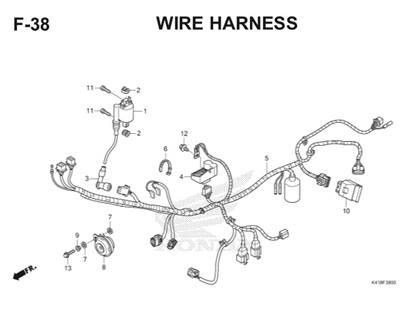 F38 Wire Harness Thumb