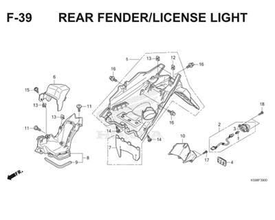 F39 Rear Fender License Light Thumb