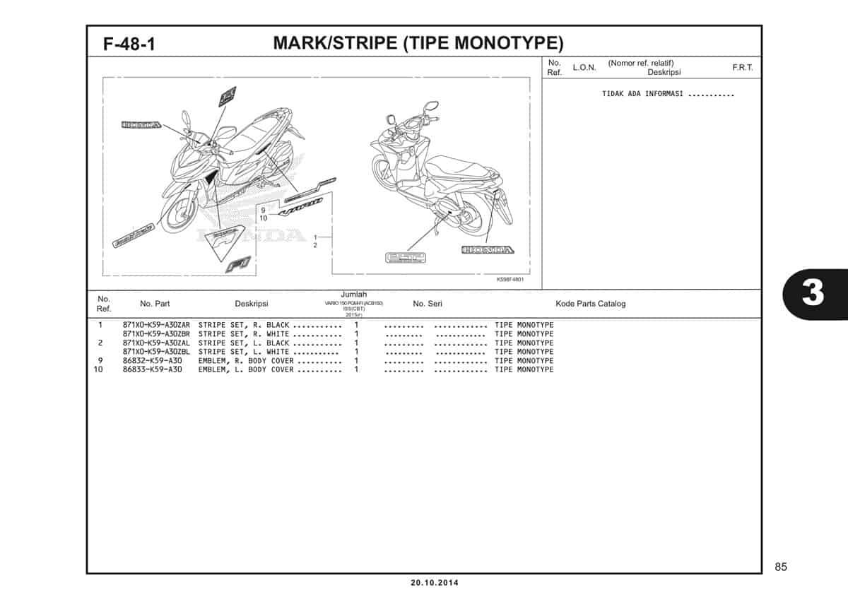 F48 1 Mark Stripe