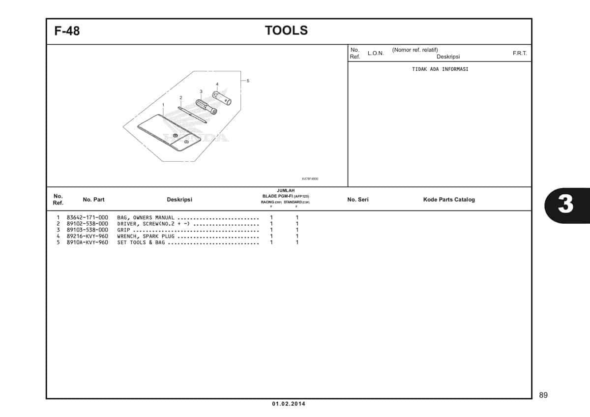 F48 Tools Katalog Blade K47
