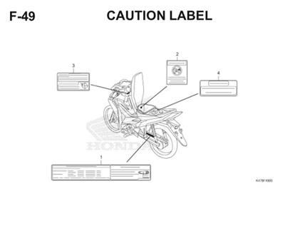 F49 Caution Label Katalog Blade K47 Thumb