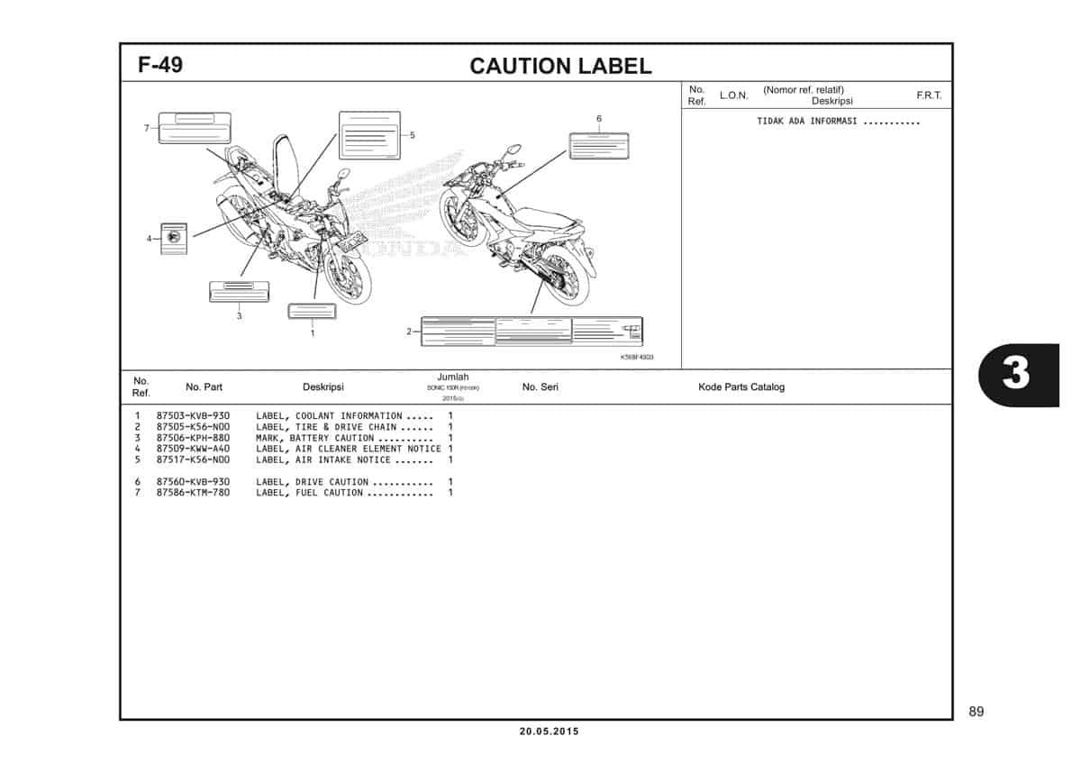 F49 Caution Label