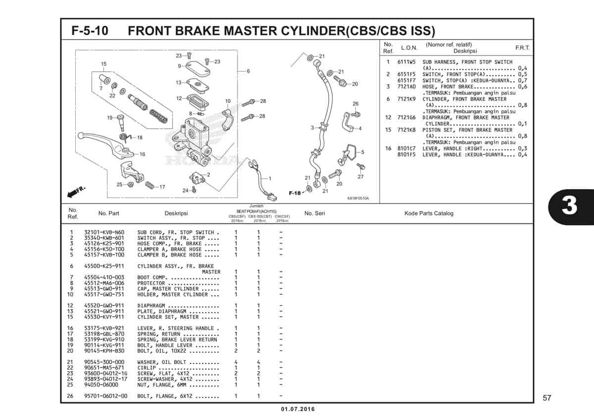 F5 10 Front Brake Master Cylinder 1