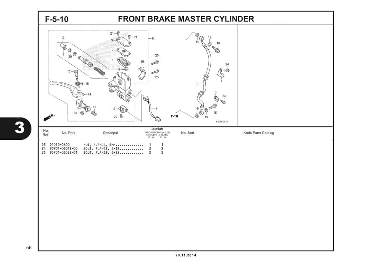 F5 10 Front Brake Master Cylinder 2