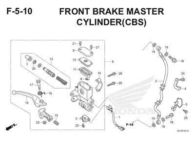 F5 10 Front Brake Master Cylinder Thumb