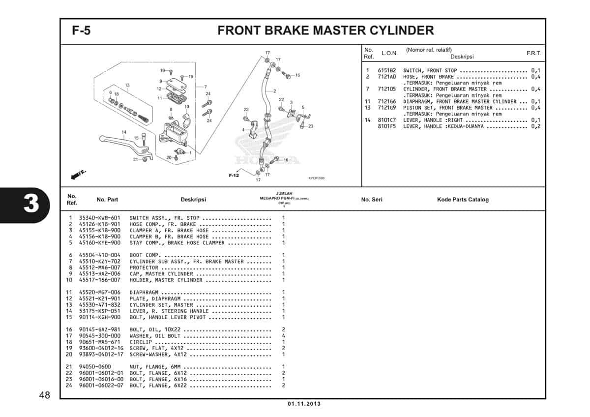 F5 Front Brake Master Cylinder