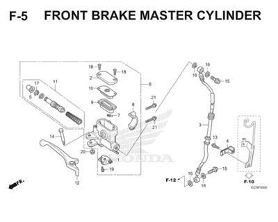 F5 Front Brake Master Cylinder Katalog Blade K47 Thumb