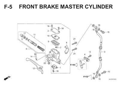 F5 Front Brake Master Cylinder Thumb