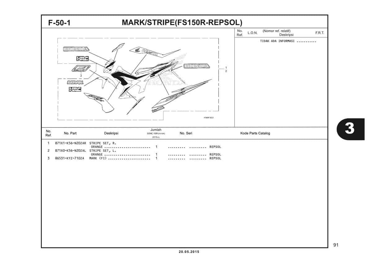 F50 1 Mark Stripe