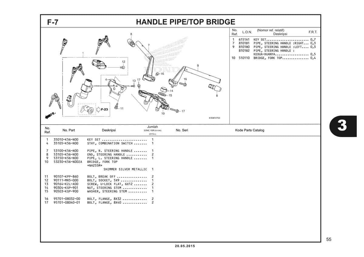 F7 Handle Pipe Top Bridge